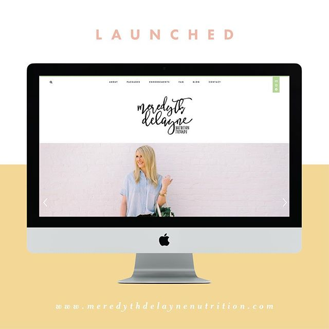 happy launch day! a huge congrats to my client @meredythdelaynenutrition on the launch of her new website! it has been a blast working with you on this project, meredyth! be sure to check out her new site → www.meredythdelaynenutrition.com 🖥✨💗