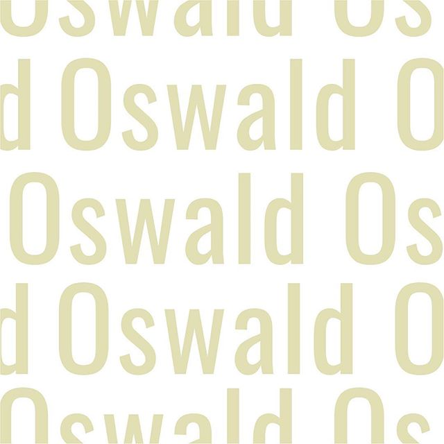 today's #typetuesday is oswald - a classic + masculine sans serif font that is always a favorite. ✨