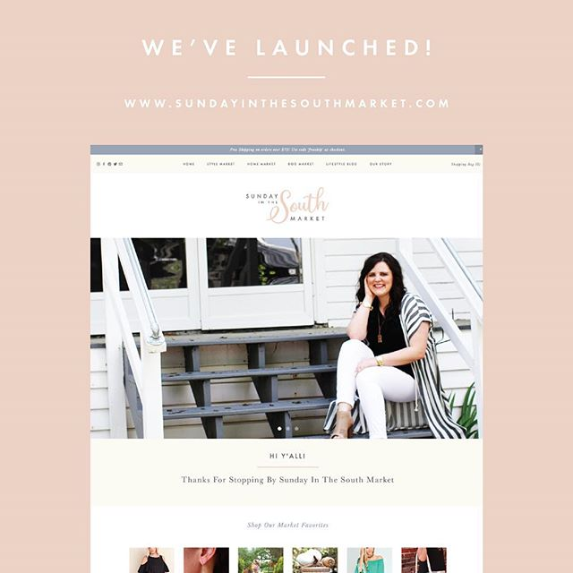 huge congrats to my client @sundayinthesouthmarket on the launch of their new online shop + blog! i absolutely loved working with rachel to bring this beauty to life! check it out here → sundayinthesouthmarket.com