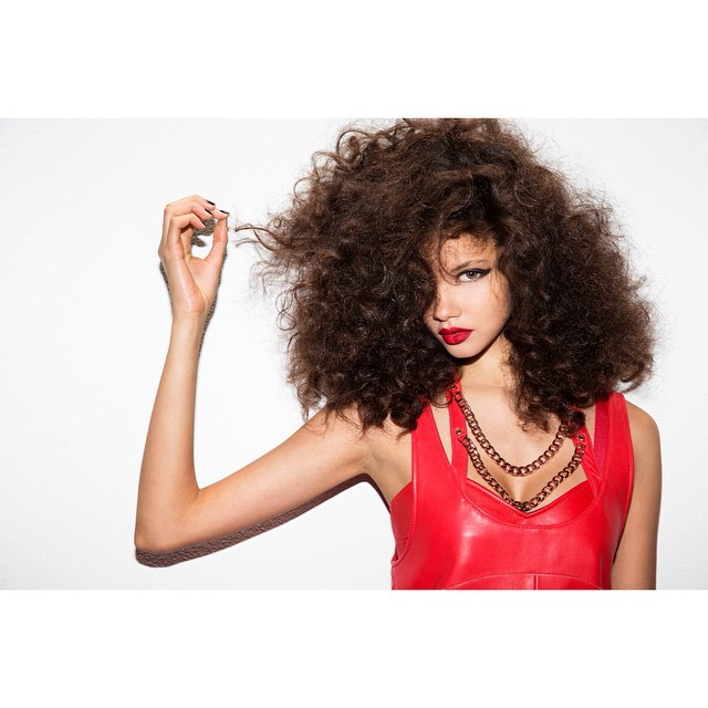 Balance of femininity and edge.     Shot by Jason Nocito  (@jasonnocito666)  For Nasty Gal   (@nastygal)    HOUSEtribeca.com  photo-retouching house    #photo #photoshoot #photography #photographer #jasonnocito #model #modeling #red #vintage #leather #bighair #curly #style #mua #makeup #designer #design #nastygal #spring #lookbook #editorial #photoshop #retouch #retouching #housestudios #retro #leathershift