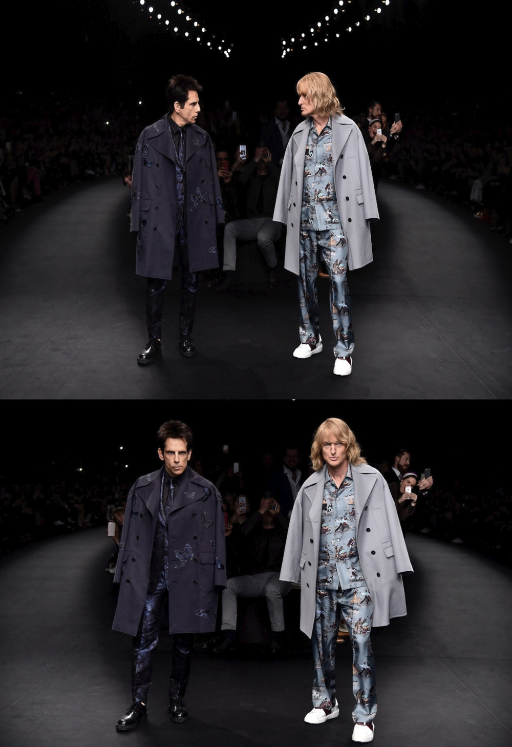 vogue: Blue Steel is back! Take an exclusive look at Ben Stiller and Owen Wilson in Zoolander character backstage at Valentino: http://vogue.cm/1GCMQ2G Photographed by Kevin Tachman