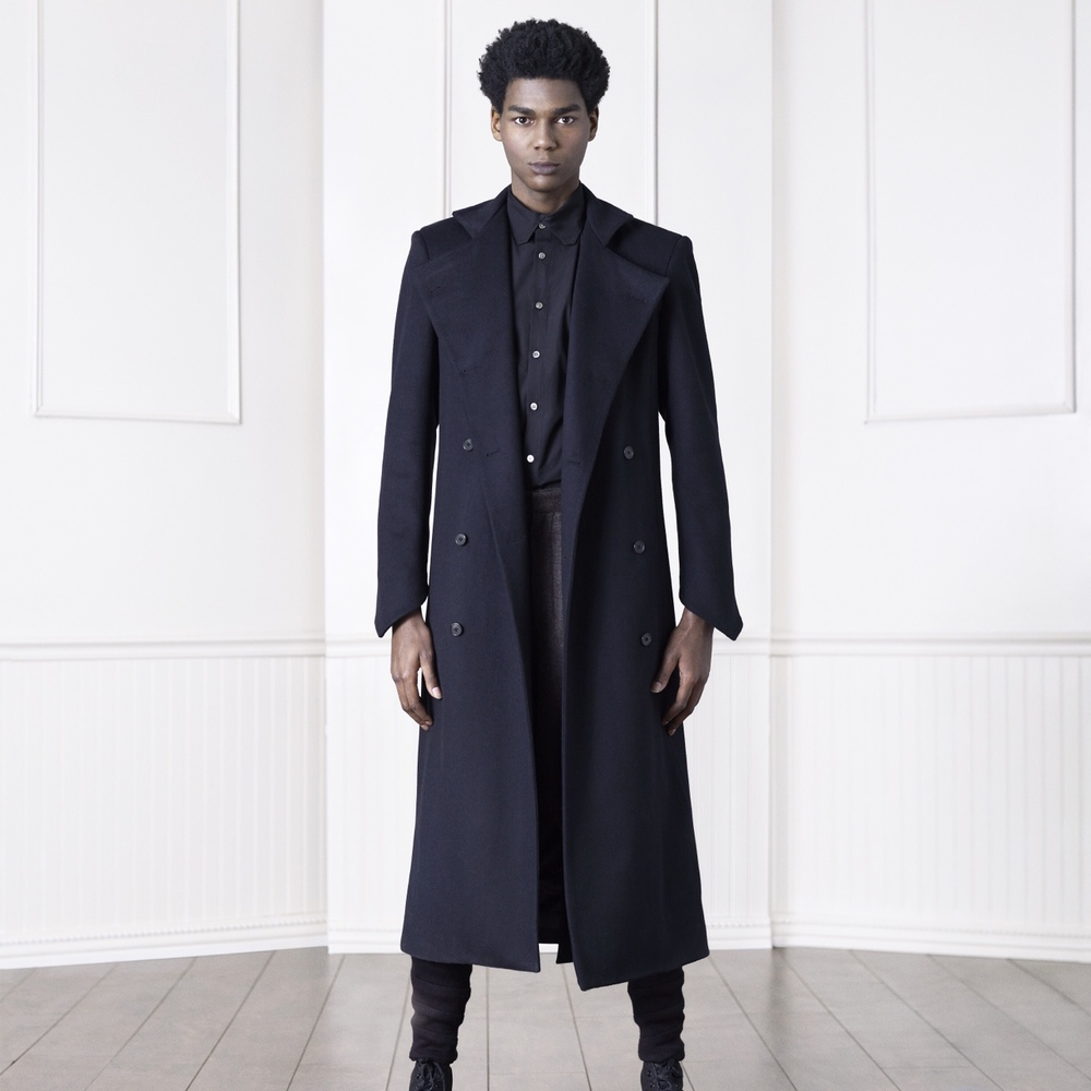 asymptotenyc :   Winter staple | Knight overcoat    Asymptote Autumn Winter 2015  http://instagram.com/p/zVxW_hClvs/