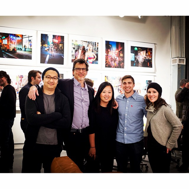 The #HOUSEstudios #crew at the opening earlier this week. This is our first photo together. I think that we are a petty good lookin' crew. Cheers to #teamwork and to a great team.     #nyc #gallery #artshow #photography #retouchers #instagood #smallcompanies #boutiquestyle #oneonone #thatshowweroll #stevenharris #grouppicture @scottfrancesphoto @nicolenayung @este_bahan @tricknyc     HOUSEtribeca.com  photo retouching house (at Steven Harris Architects, LLP)