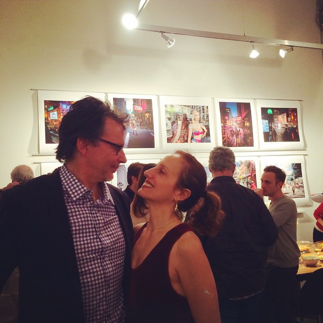 Amazing show last night! @scottfrancesphoto with his beautiful wife Patti enjoying a moment together in all the excitement. Thanks to those who came out to support us! #artshow #fineart #stevenharris #architecture #moment #happy #love #husbandandwife #photography #reception #opening #thatjcrewginghamshirt HOUSEtribeca.com photo-retouching house (at Steven Harris Architects, LLP)