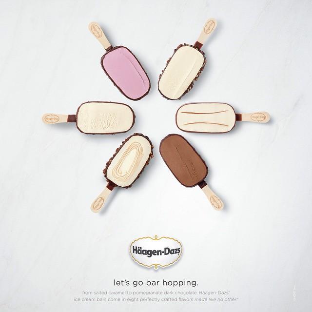 #happy #humpday Go #barhopping Photographed by @aarongraubart #haagendazs #icecream #advertising #dessert #icecreambar #yum #chocolate ____________________________________  HOUSEtribeca.com  photo-retouching house