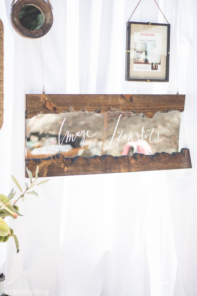 Live Edge Mirror Sign   Created for Michaels Makers Summit   Alison Events