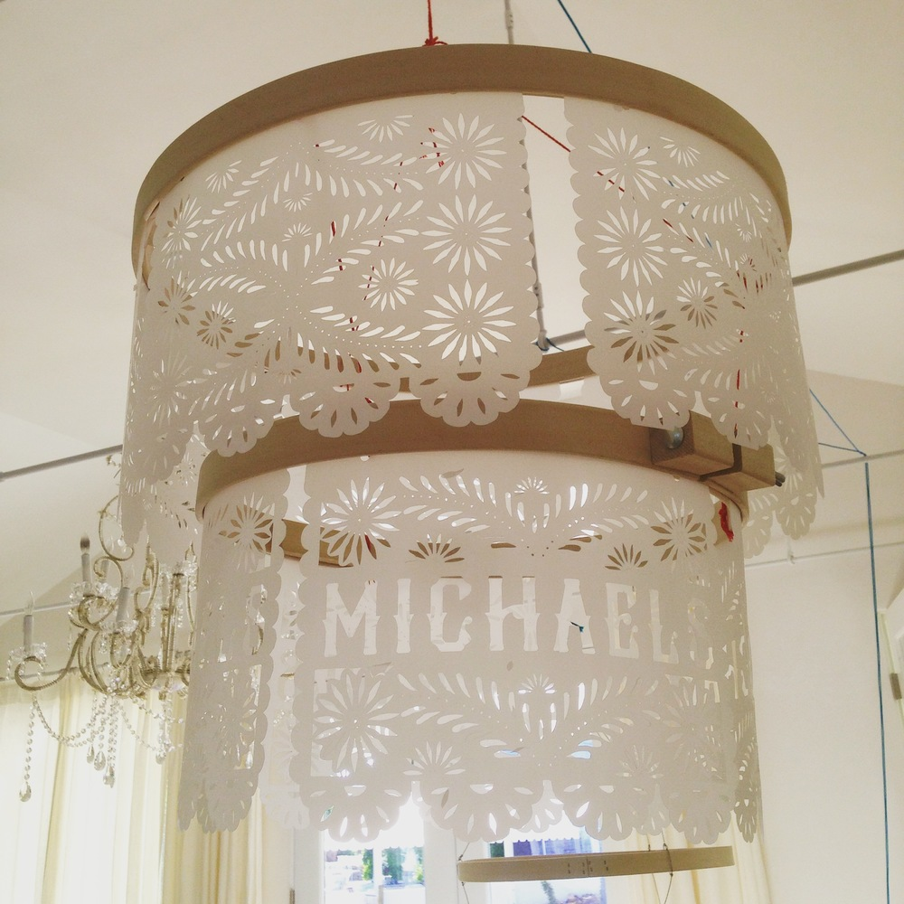 Custom Papel Picado Chandelier    Created for Michaels Makers Summit   Alison Events Graphic Design by Yonder