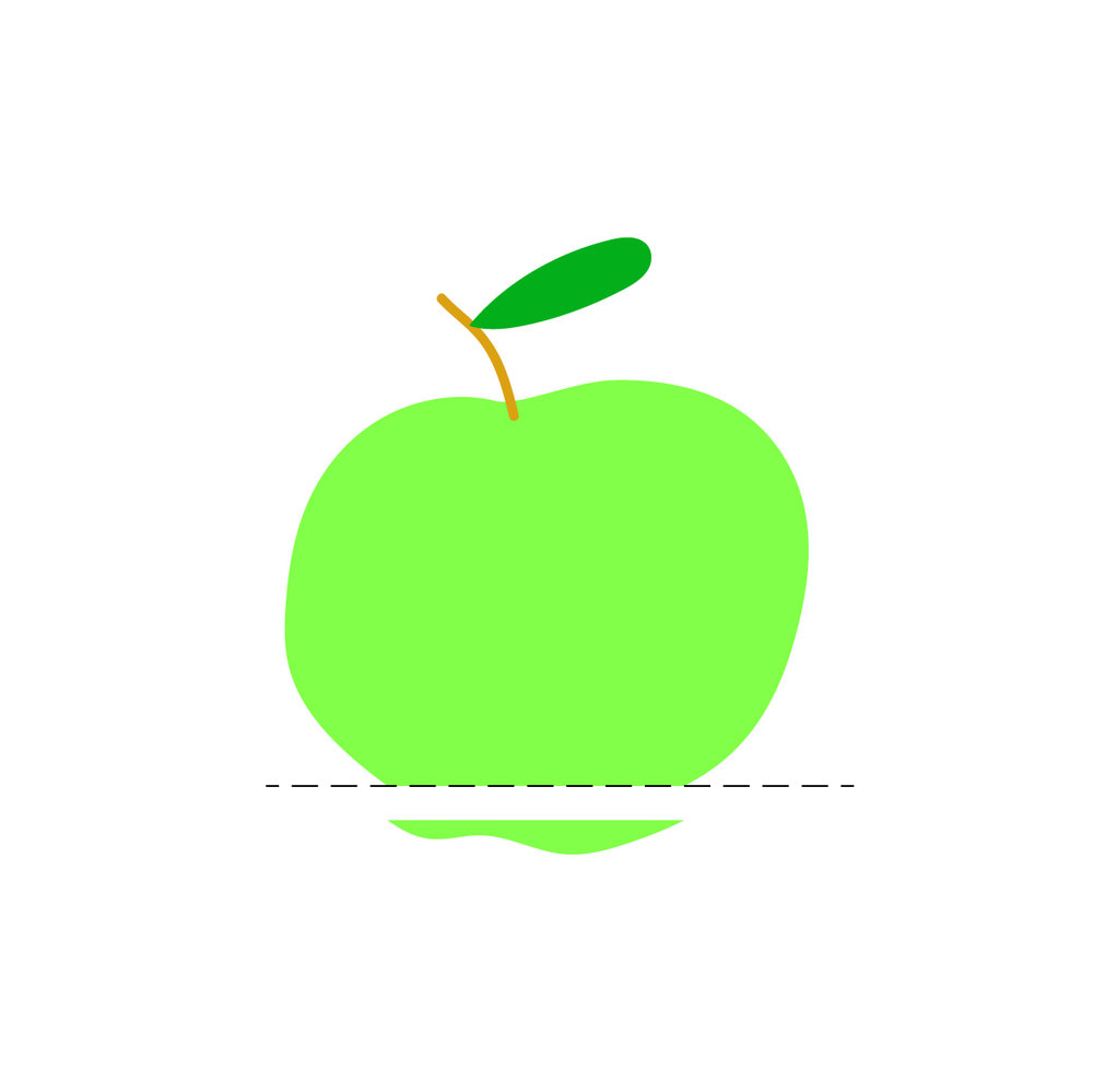 Slice off the bottom - As close as you can get to the bottom of the apple, simply slice off the feet to create one flat surface.