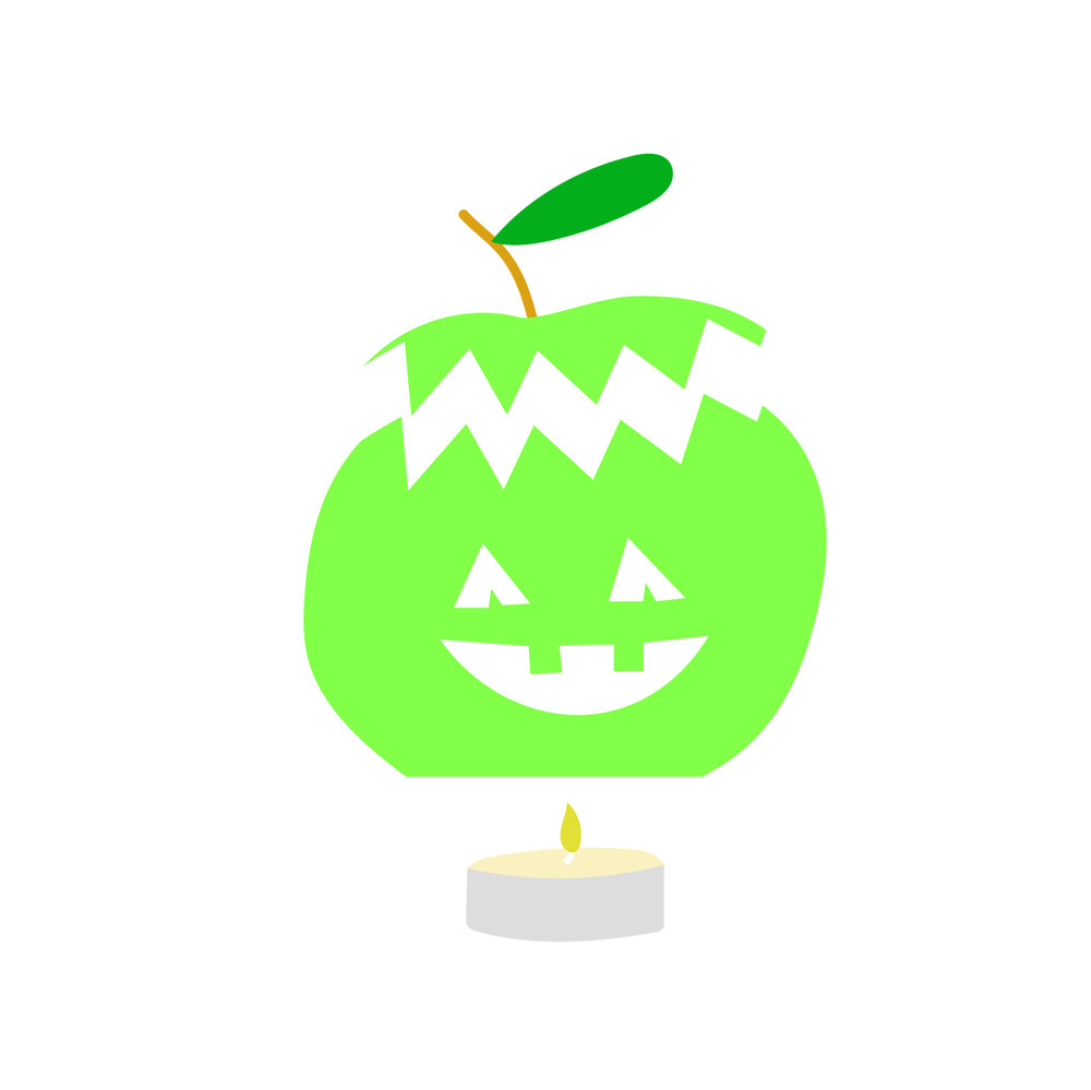 Assemble your creation - Fit the lid back on the top of your apple and place the now hollow apple over your tea candle.