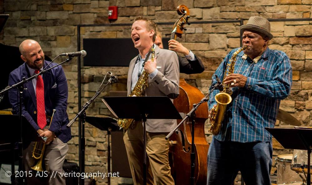 W/ Bobby Watson and Clint Ashlock at Take Five (Photo Credit: Andy Schwartz)