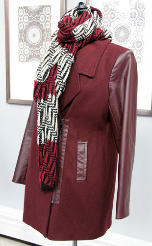 Half Zip Wool Coats