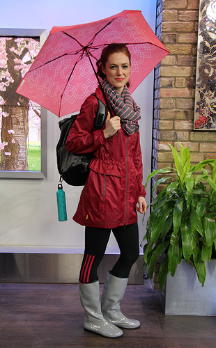 Sporty Rain Day Fashion