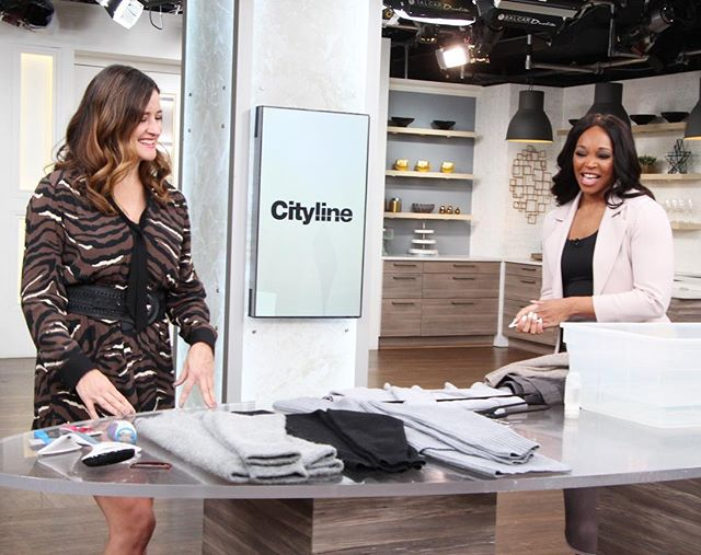 Happy New Year!! Back at it with my work family! Today on @Cityline with @thetracymoore, I'm sharing tips to care for your wool & cashmere sweaters, along with some amazing makeovers - first of 2019!!! And much more! Always chock full of tips & tricks!