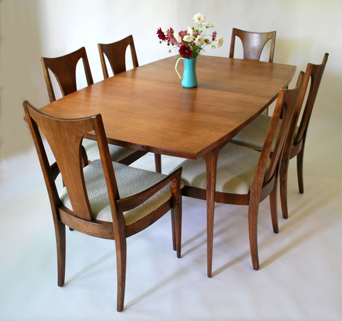 broyhill brasilia dining set with new knoll upholstery - sold