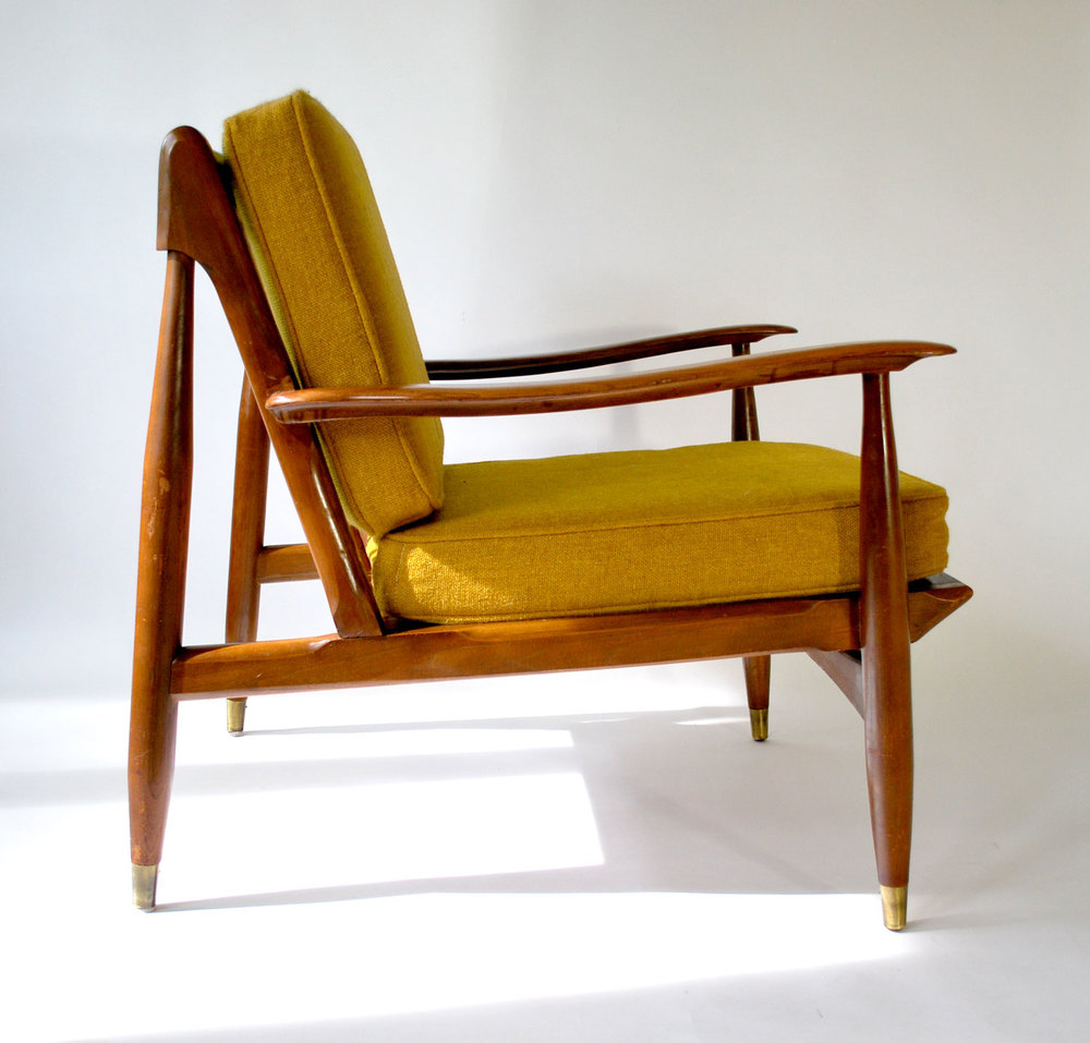 Pair Mid Century Danish Modern Lounge Chairs   SOLD