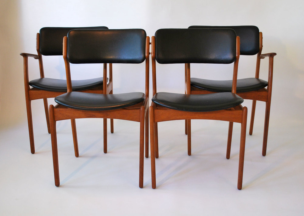Set/4 Erik Buck Mid Century Danish Teak Chairs   SOLD U2014 Vintage Modern Maine