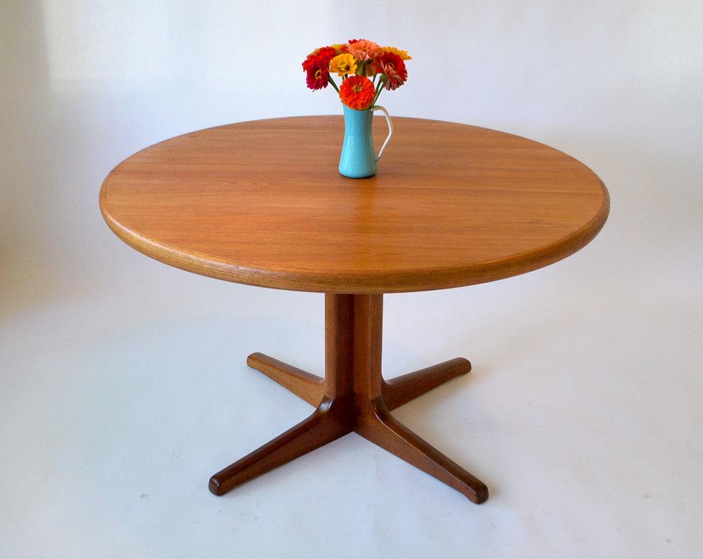 Danish Modern Teak Round Table   SOLD