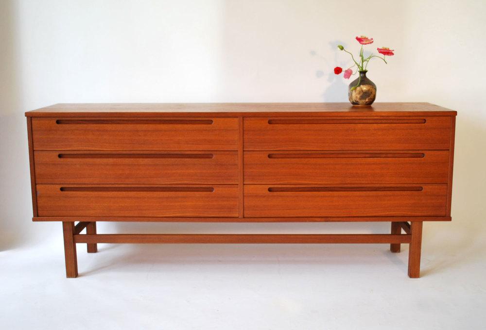 1960s Danish Credenza : S danish teak dresser or credenza by nils jonsson sold