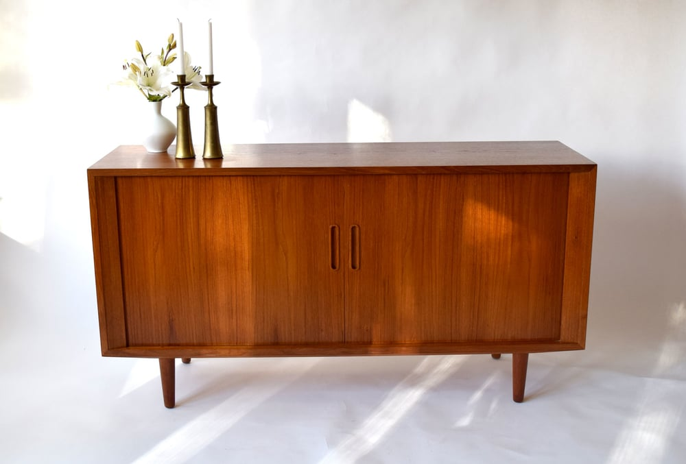 Danish Modern Credenza Sideboard : Danish teak credenza or sideboard by hundevad co sold