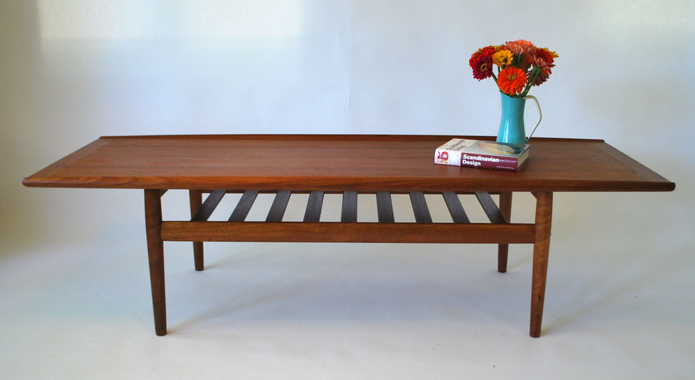 Charmant Superb Mid Century Teak Surfboard Coffee Table By Grete Jalk, Denmark   SOLD
