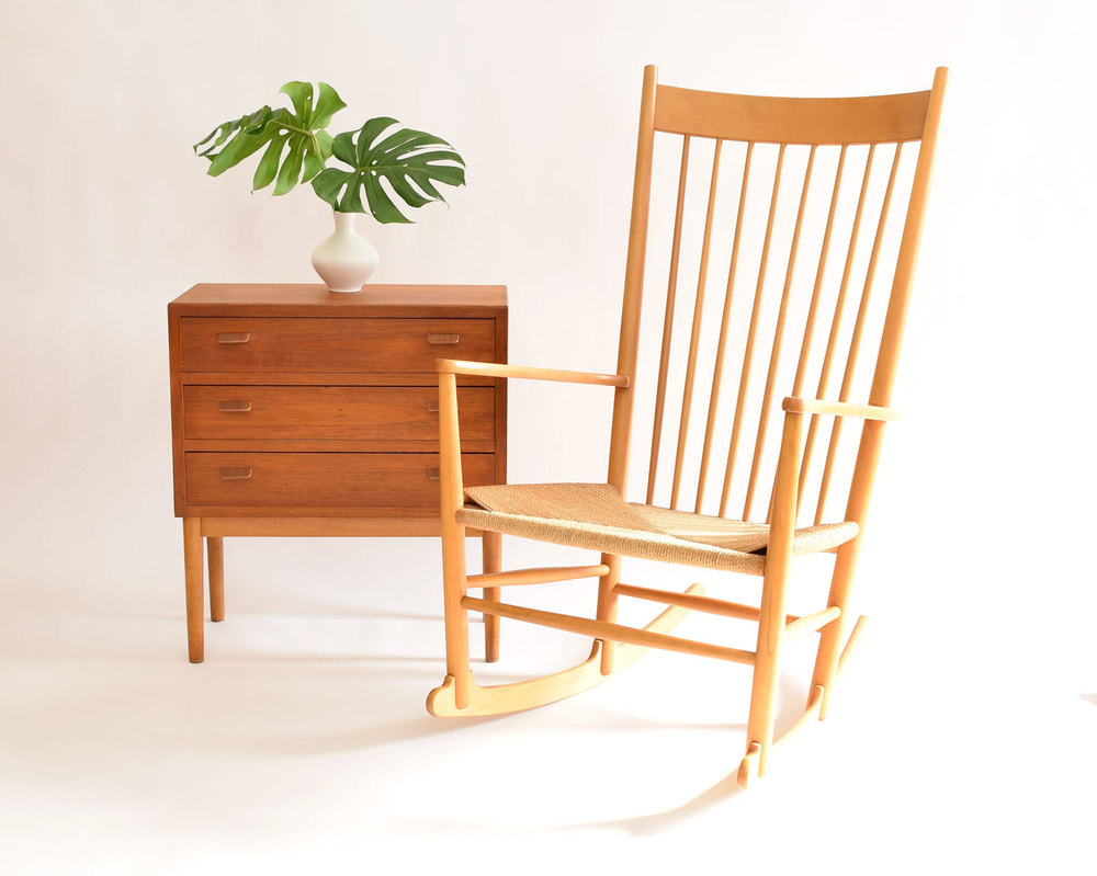 Hans J. Wegner No. J16 Rocking Chair, Denmark - SOLD — Vintage ...