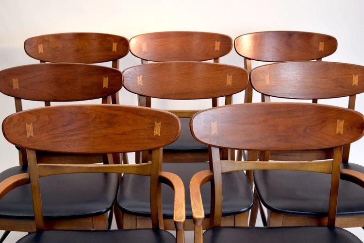 . Set 8 Rare Lane  Acclaim  Dining Chairs   SOLD   Vintage Modern Maine