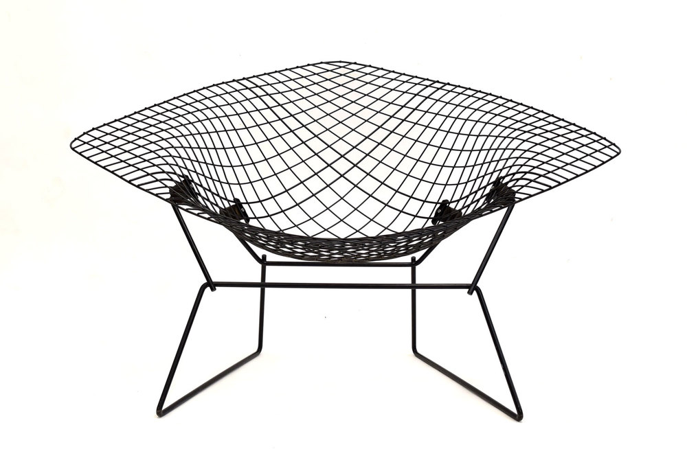 Large Early Knoll Bertoia Low Diamond Chair   SOLD U2014 Vintage Modern Maine