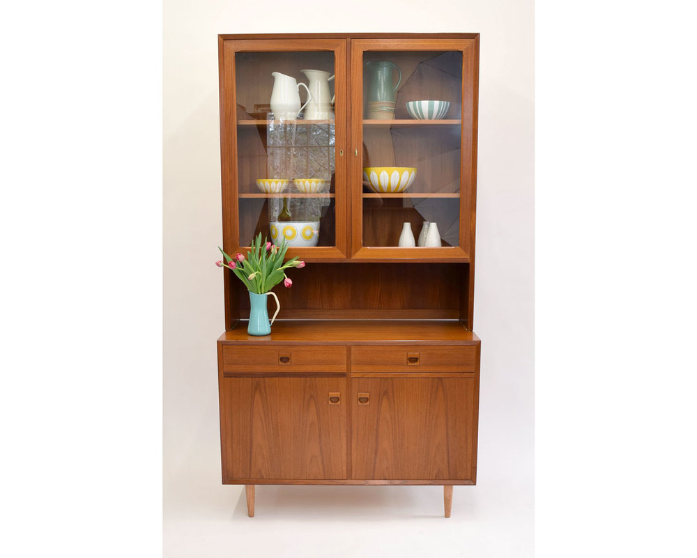 Danish Credenza Hutch : Danish teak hutch display credenza by brouer of denmark sold