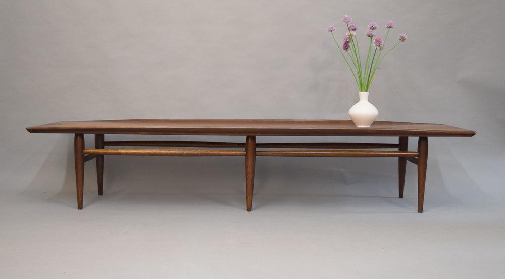 Long MidCentury Bassett Surfboard Coffee Table SOLD Vintage