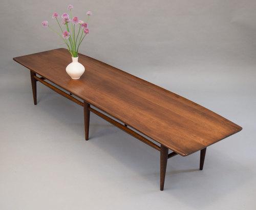 Long Mid Century Bassett Surfboard Coffee Table Sold Vintage