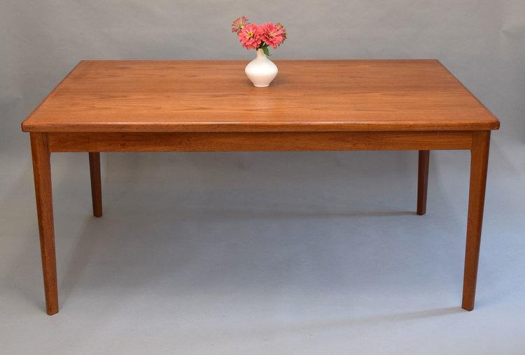 Danish Teak Dining Table With Hidden Leaves SOLD Vintage Modern - Danish modern dining table with leaves