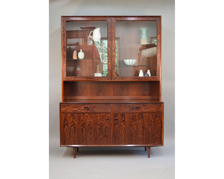 Danish Rosewood Credenza : Danish rosewood credenza & display cabinet by brouer sold