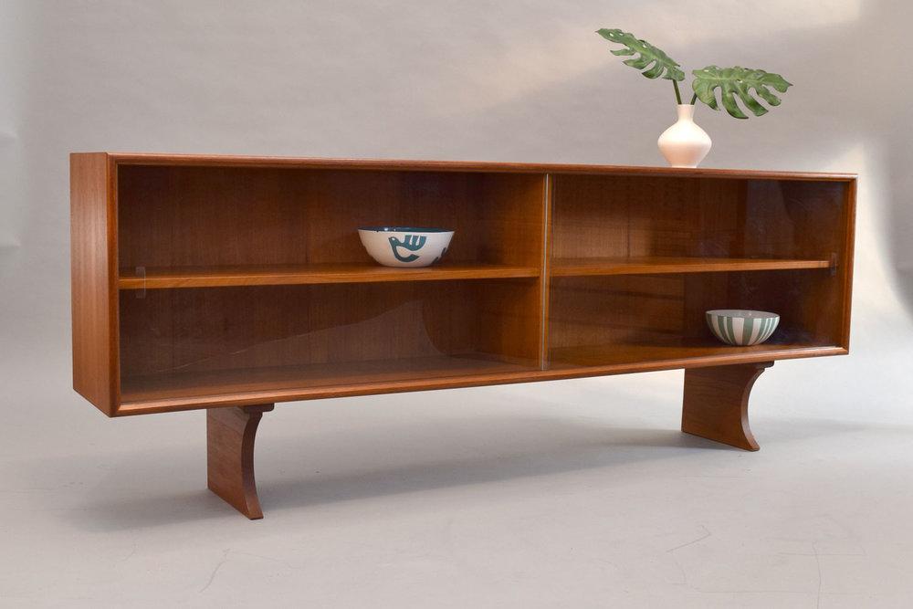 Teak Low Bookcase Or Hutch Top By Gunni Omann Sold