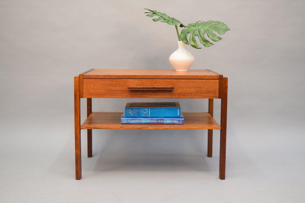 Danish Teak Side Table Or Nightstand   SOLD