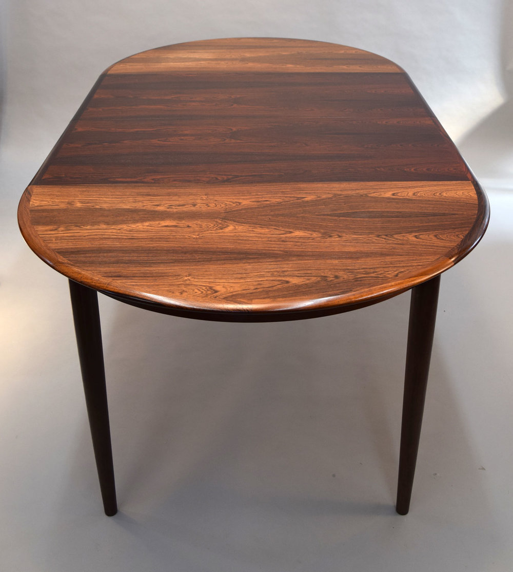 Brazilian Rosewood Table With 2 Leaves By Kai Kristiansen   SOLD
