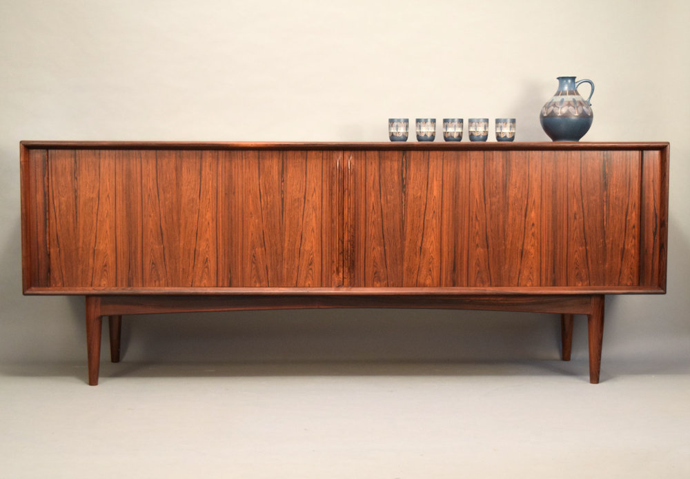 Danish Credenza For Sale : Pedersen son danish palisander rosewood credenza with tambour