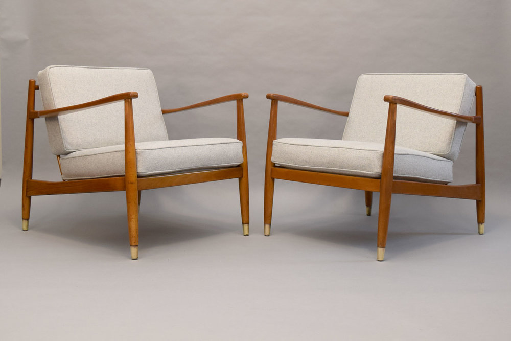 Pair Of Folke Ohlsson For Dux Lounge Chairs   SOLD
