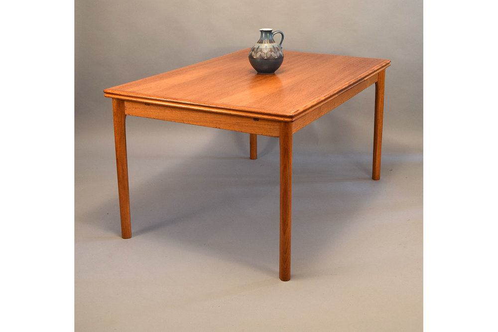 Large Danish Teak Extension Dining Table By Ansager Mobler   SOLD