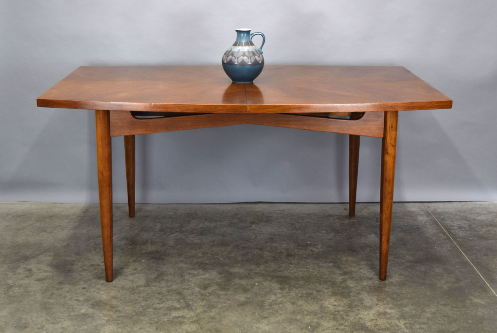 American Of Martinsville U0027Daniau0027 Walnut Dining Table   SOLD
