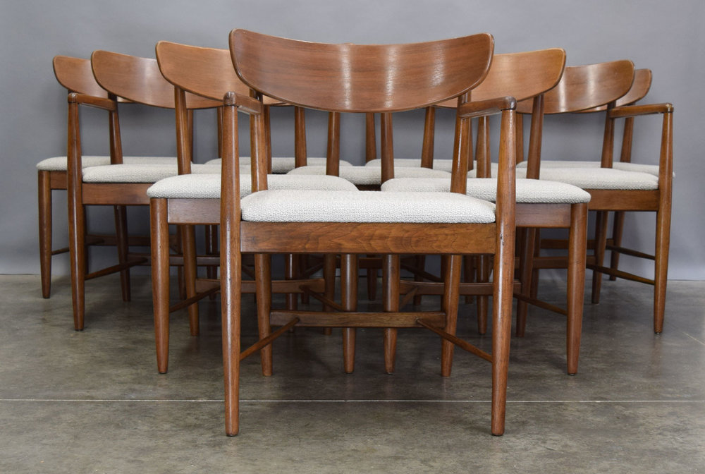 American Of Martinsville U0027Daniau0027 Walnut Dining Chairs   SOLD