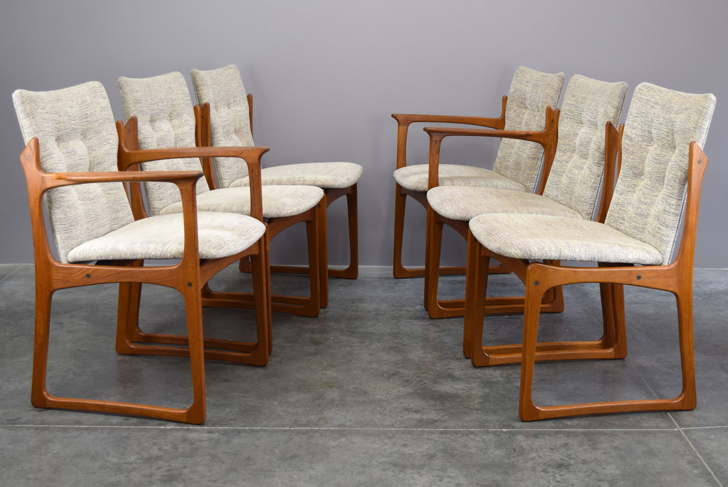 Prime Danish Teak Dining Chairs By Vamdrup Stolefabrik Set 6 Beatyapartments Chair Design Images Beatyapartmentscom