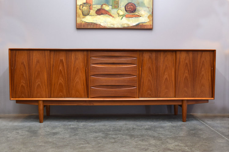 Danish Teak Credenza For Sale : Glorious danish teak credenza by dyrlund sold u2014 vintage modern maine
