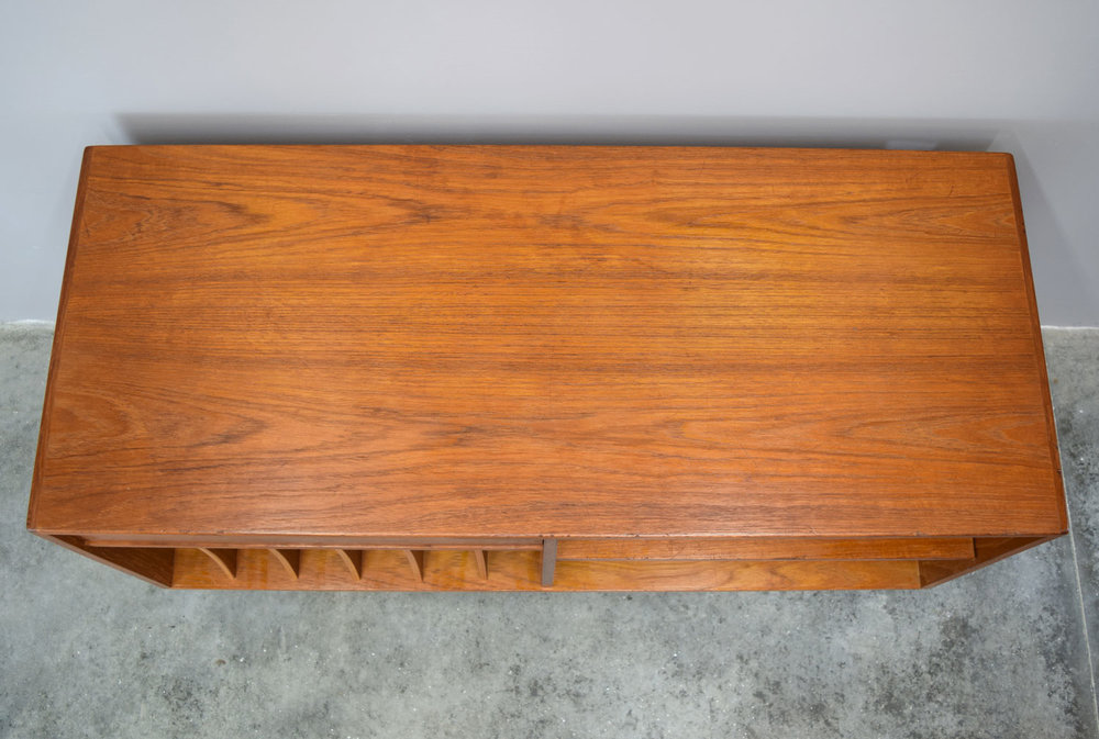 Danish Teak Stereo Cabinet Or Credenza By Salin Mobler  SOLD