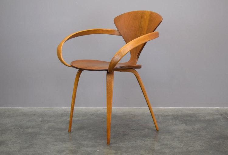 norman cherner for plycraft armchair sold vintage modern maine