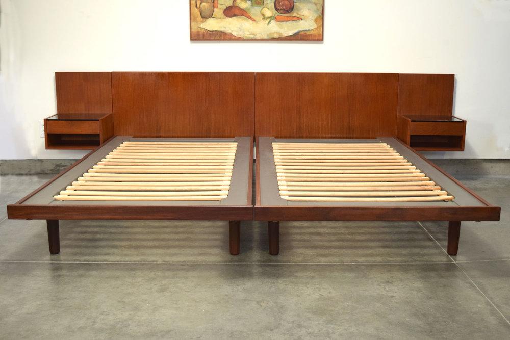HANS J. WEGNER TEAK KING BED OR TWO TWIN BEDS
