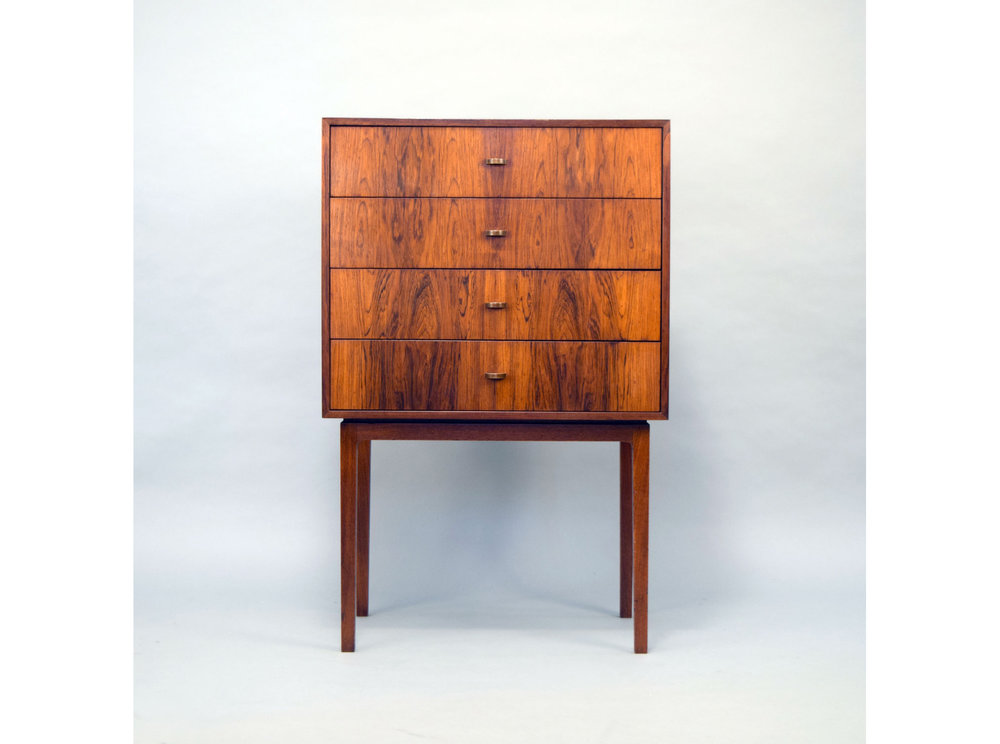 RARE TORBJØRN AFDAL ROSEWOOD CHEST FOR BRUKSBO, NORWAY