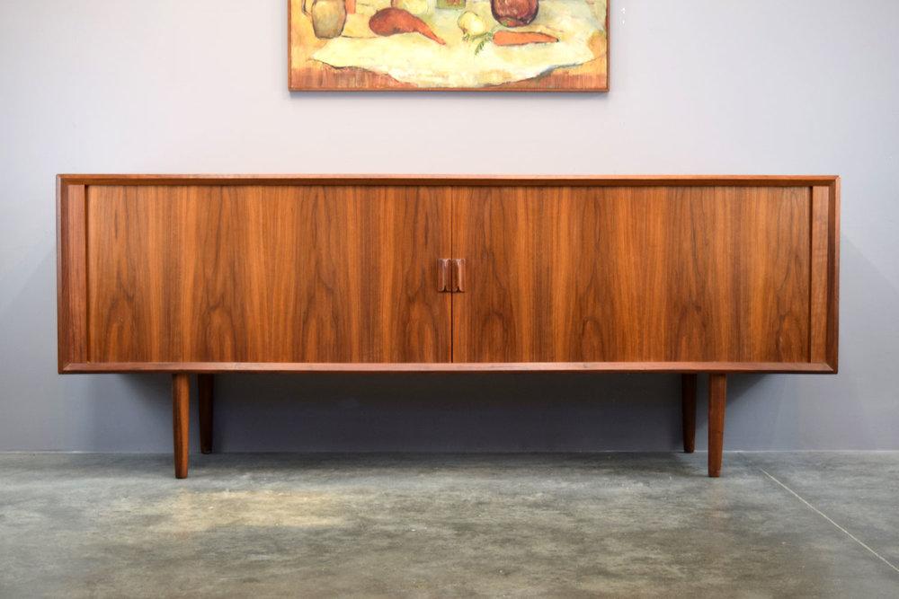 Danish Modern Credenza For Sale : Outstanding danish walnut tambour door credenza by svend a larsen