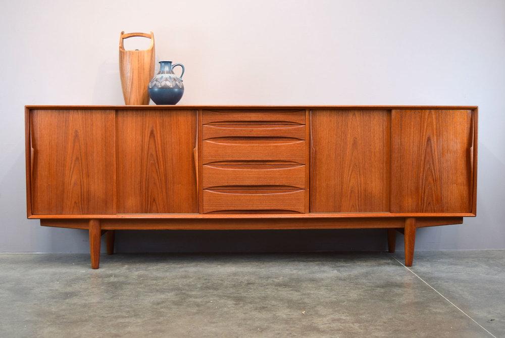 Danish Credenza For Sale : Long sleek danish teak credenza by dyrlund sold u vintage
