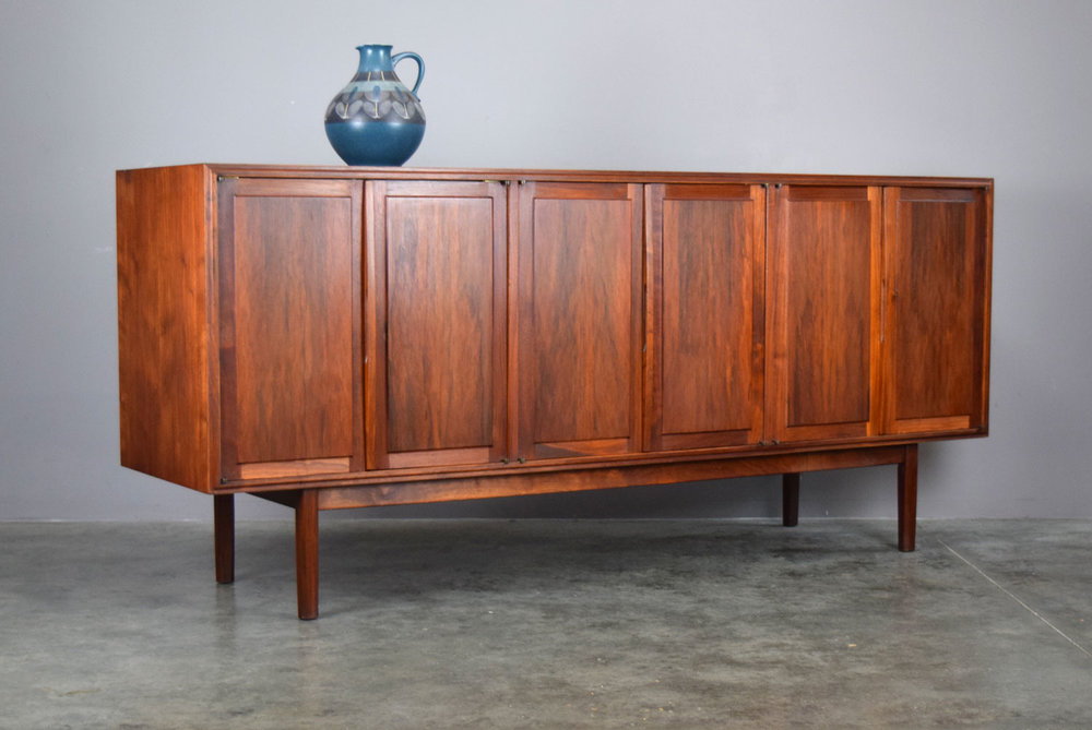 Beautiful Jack Cartwright For Founders Walnut Credenza   SOLD