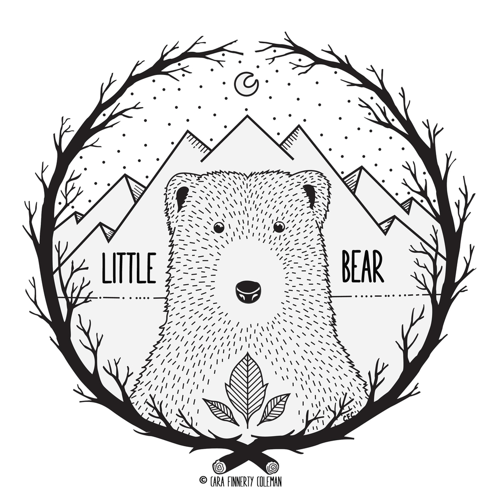 Little Bear Illustration + Craft by Cara Finnerty Coleman